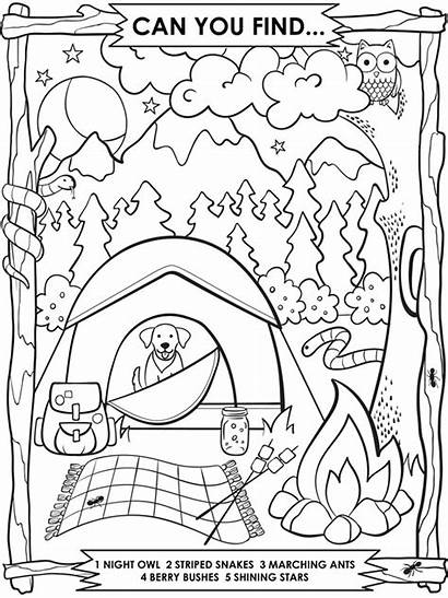 Camping Coloring Pages Crayola Summer Theme Preschool