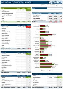 Household Budget Worksheet Excel Template Household Budget Planner Free Budget Spreadsheet For Excel