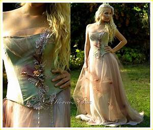 magical woodland fairy silk fantasy corset wedding gown With woodland fairy wedding dress