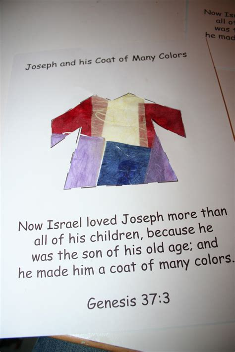 coat of many colors in the bible our country road bible activity book joseph and the coat