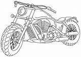 Coloring Motorcycle Transportation Sheets Printable sketch template
