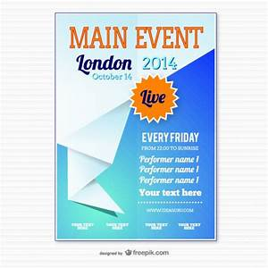 origami event poster template vector free download With free downloadable poster templates