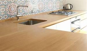 Plan De Travail Com : plan de travail en bois exemples de r alisations en photo ~ Melissatoandfro.com Idées de Décoration