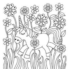 downloadable colouring page    heart unicorns colouring book unicorn coloring pages