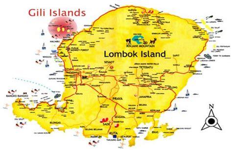 indonesia map lombok island