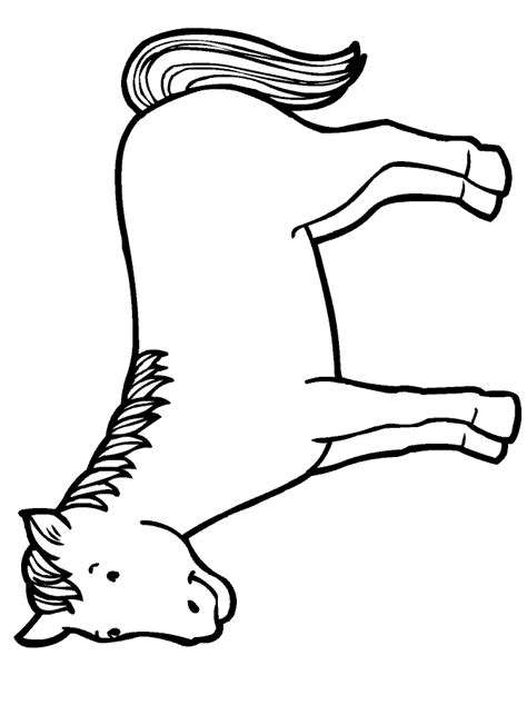 coloring pages preschool and kindergarten 263 | free animals horse printable pages for preschool