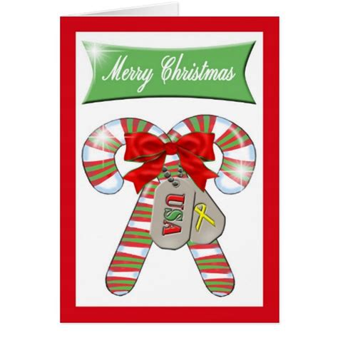 christmas card for deployed us military zazzle