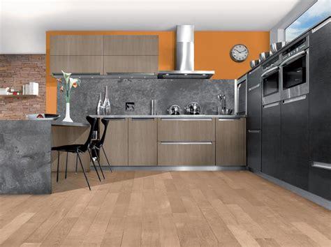 cuisine gris et bois cuisine moderne en chene