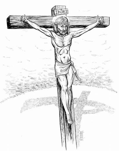 Cross Jesus Sketch Friday Sketches Drawings Pencil