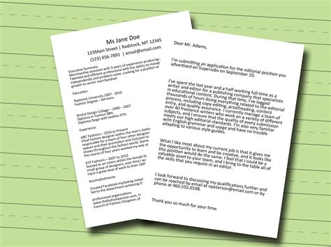 Ways To Begin A Cover Letter by 4 Ways To Start A Cover Letter Wikihow