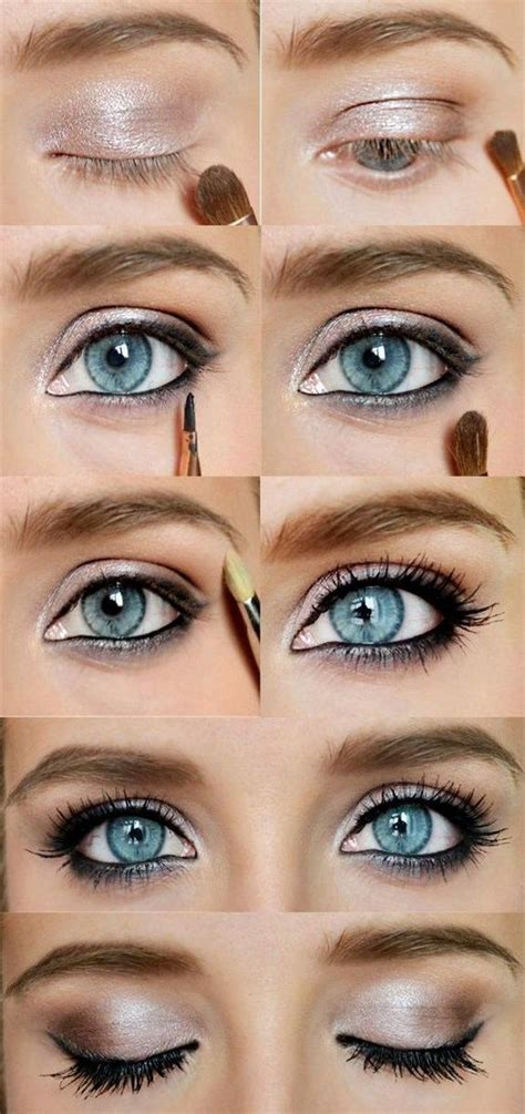 awesome eye makeup   blue eyes pretty designs