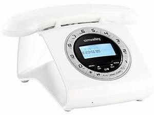 Telefon Schnurlos Retro : simvalley communications retro dect schnurlostelefon mit anrufbeantworter wei ~ Buech-reservation.com Haus und Dekorationen