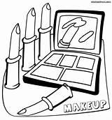 Coloring Makeup Printable Sheets Lipstick Kleurplaat Coloringway Entitlementtrap Monochrome Popular Coloringhome Kleurplatenl Template sketch template