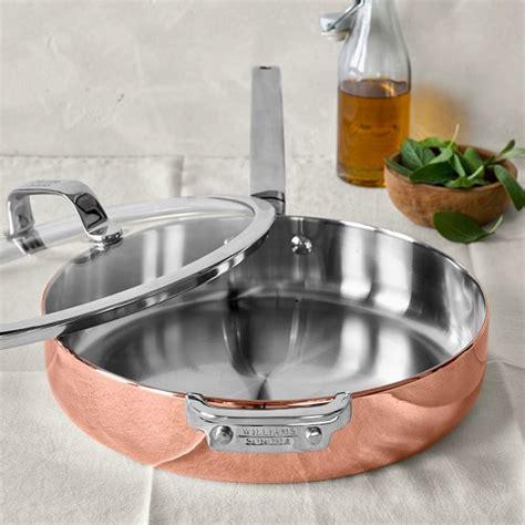 williams sonoma professional copper saute pan williams sonoma