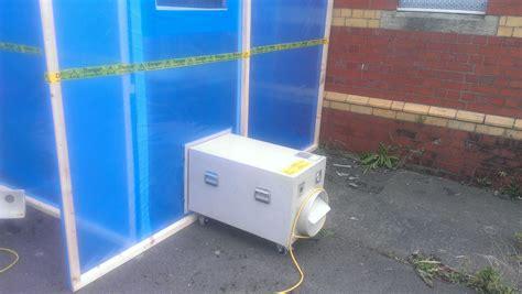asbestos enclosure  negative pressure unit port