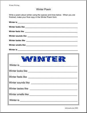 writing prompt winter elementary abcteach