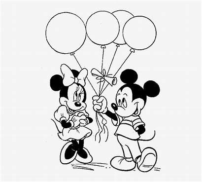 Mickey Coloring Mouse Minnie Pages Balloons Give