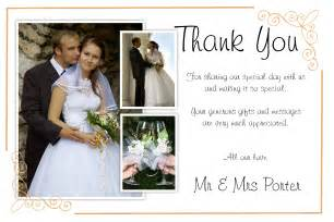 thank you wedding notes 50 personalised wedding thankyou thank you photo cards n184 ebay