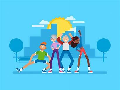 Warming Dribbble Vector Animation Running Character Animated