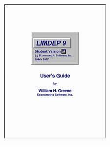 Limdep 9 0 Guide Pdf