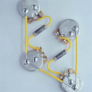 Les Paul Wiring Harness Custom By Jel 525k Cts Long Shaft