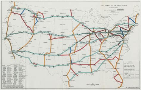 air transport airlines usa routes maps airways map