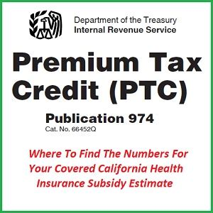 tax form for health insurance subsidy calculating health insurance premium tax credit subsidy