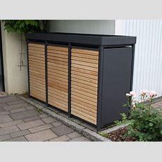 Mülltonnenbox Alu Mit Lärchetüren (unbehandelt) Von Zaun