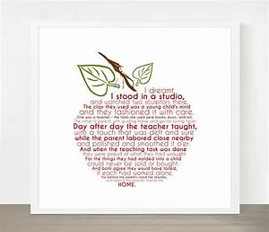 Teacher Appreciation Gift Apple Word Art 8x8 by ...