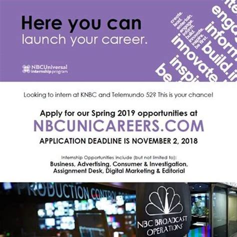 apply  nbcuniversal internships ucla extension
