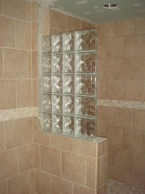 glass block shower designs half wall shower design an addition some glass