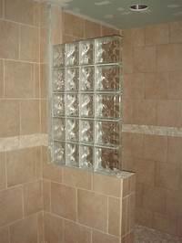 glass shower blocks Half Wall Shower Design | ... an addition, some glass ...