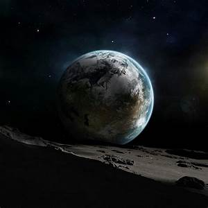 Earth view from moon iPad Wallpaper and iPad 2 Wallpaper ...