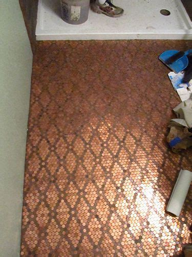tile your floor with pennies 25 best ideas about pennies floor on pinterest penny flooring penny table and copper penny