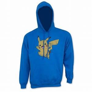 mens pikachu pokemon sweatshirt with hood p