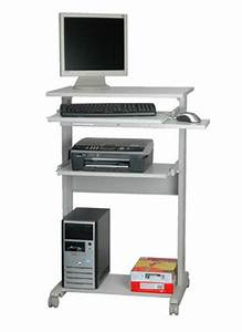 Meuble Bureau Ordinateur : meuble pour pc table de lit ~ Nature-et-papiers.com Idées de Décoration