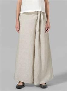 Linen Wide Leg Extra Long Pants Plus Size