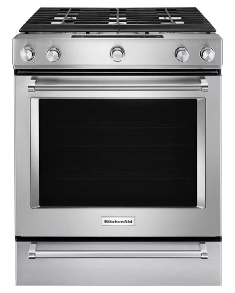 Kitchen Aid Gas Range by Kitchenaid Ksgb900ess 6 5 Cu Ft 5 Burner Gas