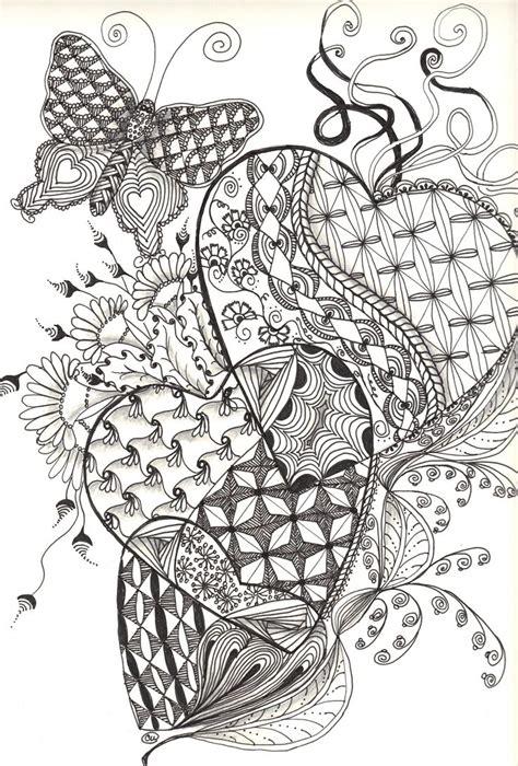 zentangle hearts friday september    images zentangle patterns zentangle