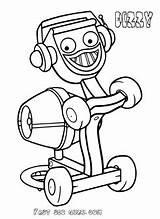 Bob Builder Coloring Dizzy Printable Preschool Cartoon sketch template
