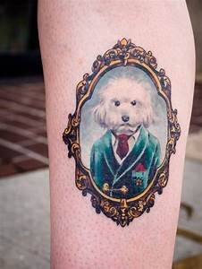 Dog Frame Portrait Tattoos | www.imgkid.com - The Image ...