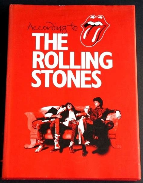 ACCORDING TO THE ROLLING STONES Hardcover Book Mick Jagger ...