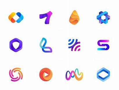 Logos Gradient Dribbble Trends Trending Gradients Mark