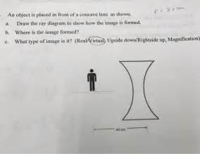 Solved  An Object Is Placed In Front Of A Concave Lens As