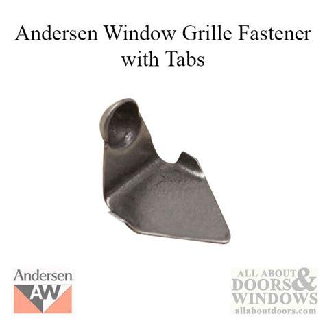 metal grid grille fastener andersen  style  tabs