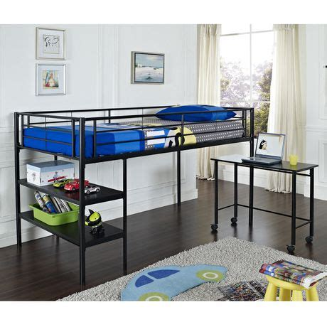walmart loft bed with desk metal loft bed with desk black walmart canada