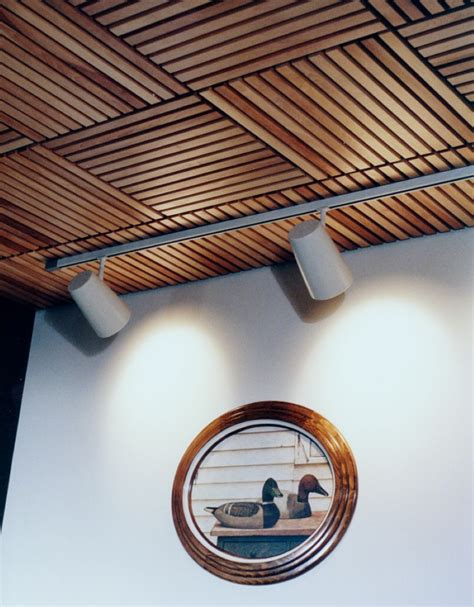 I've been seeing these modern wall art decors, but they're usually so expensive! Wood Ceiling Planks Design - HomesFeed