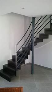 Rampe D Escalier Moderne : cuisine attachante rampes escalier moderne main courante escalier moderne rampe escalier bois ~ Melissatoandfro.com Idées de Décoration