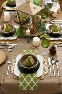 tisch decken in grün mit sackleinen freshouse