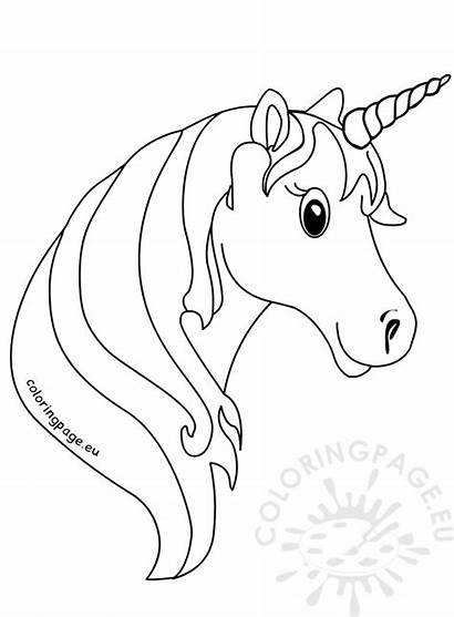 Unicorn Face Coloring Pages